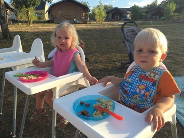 Eten op het tentenveld