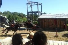 Knap en grappig: paardenspektakel Durandal in Rocamadour