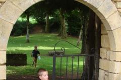 Lekker rennen in een parkje