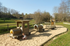 En dan een picknick bij het speeltuin-treintje net vóór Saint Géniès