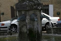 Op de markt staat een fontein met waterspuwers. Op die markt vind je ...