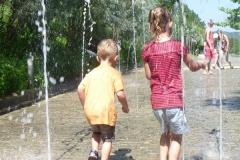 In de  Jardin d'Imaginaire is het water gedeelte favoriet bij de kids